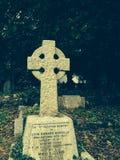 gravestone старый Стоковые Фото