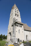 gravestone церков Стоковые Фото