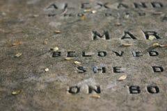 gravestone 1800 gammalt s Royaltyfria Foton