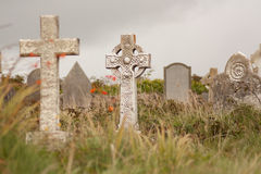 A gravestone. On a Irish graveyard Royalty Free Stock Photography