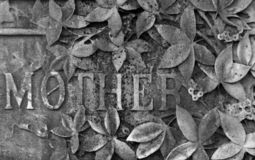 Gravestone. A gravestone with the word mother engraved Royalty Free Stock Image