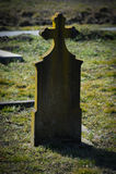 gravestone stock foto's