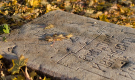 gravestone Arkivfoto