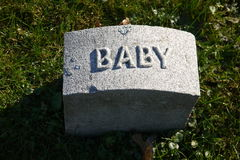 Gravestone: baby Stock Photo
