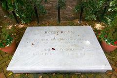 Gravestone for Betsy Ross in The Betsy Ross House on East Third Street, Philadelphia, Pennsylvania Royalty Free Stock Photo