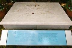 Gravestone for Betsy Ross in The Betsy Ross House on East Third Street, Philadelphia, Pennsylvania Stock Images
