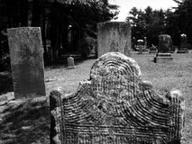 Gravestone: carved lines detail Stock Photos