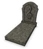 Gravestone with clef symbol Stock Image