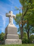 Gravestone with Cross Royalty Free Stock Photo