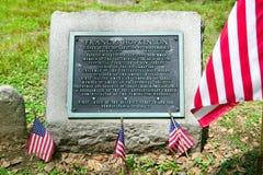 Gravestone för Francis Hopkinson arkivbild