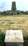The gravestone of a fallen Australian soldier at Lone Pine Cemetery on the Gallipoli Peninsula in Turkey. The gravestone of fallen Australian World War l Royalty Free Stock Photography