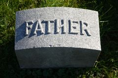 Gravestone: father Royalty Free Stock Images