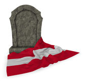 Gravestone and flag of austria Royalty Free Stock Photography