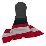 Gravestone and flag of austria Royalty Free Stock Photos
