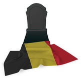Gravestone and flag of belgium Royalty Free Stock Images