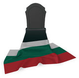 Gravestone and flag of bulgaria Stock Images