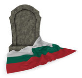 Gravestone and flag of bulgaria Royalty Free Stock Photos