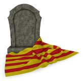 Gravestone and flag of catalonia Stock Image