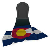 Gravestone and flag of colorado Stock Images