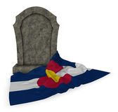 Gravestone and flag of colorado Stock Image