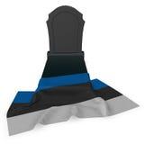 Gravestone and flag of estonia Royalty Free Stock Image