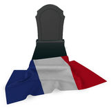 Gravestone and flag of france Stock Photography