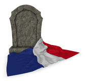 Gravestone and flag of france Royalty Free Stock Photos
