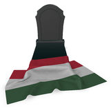 Gravestone and flag of hungary Stock Image