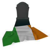 Gravestone and flag of ireland Royalty Free Stock Photo