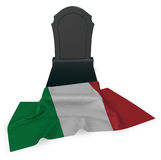 Gravestone and flag of italy Stock Photo
