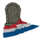 Gravestone and flag of the netherlands Stock Photos