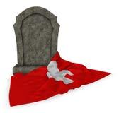 Gravestone and flag of switzerland Stock Photo