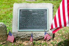 Gravestone for Francis Hopkinson in Christ Church Burial Ground, Philadelphia, Pennsylvania, signer of the Declaration of Independ Stock Photo