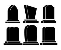 Gravestone Halloween ustalona ikona odizolowywająca na białym tle Fotografia Royalty Free