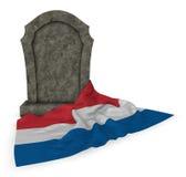 Gravestone i flaga holandie Zdjęcia Stock