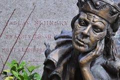 Gravestone i statua sławny Rosyjski baletniczy tancerz Vaslav Fotografia Royalty Free