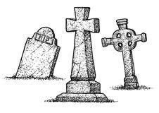 Free Gravestone Illustration, Drawing, Engraving, Ink, Line Art, Vector Royalty Free Stock Photos - 113448088