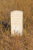 Gravestone at an Indian Battlefield. Gravestone at an Little Bighorn National Battlefield in Montana Stock Photos