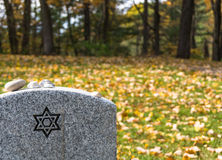 Gravestone in Jewish Cemetery Royalty Free Stock Photography