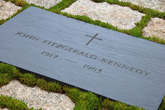 Gravestone of JFK on Arlington National Cemetery Stock Photography