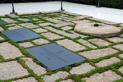 Gravestone of JFK on Arlington National Cemetery Stock Photo