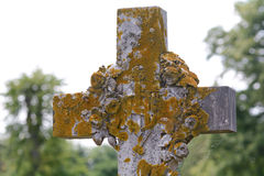 Gravestone krzyż Obraz Royalty Free