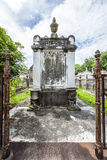 Gravestone at the Lafayette Cemetery No. 1 in New Orleans Royalty Free Stock Photo
