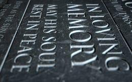Gravestone In Loving Memory Stock Image