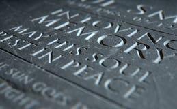 Gravestone In Loving Memory Stock Images