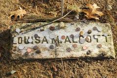 Luisa May Alcott Gravestone Stock Image