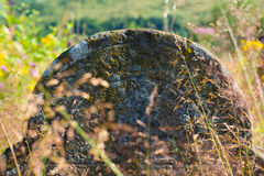 Gravestone in the old Jewish cemetery Royalty Free Stock Photography