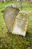 Gravestone at the old Jewish cemetery. Transcarpathia. Ukraine Stock Photography