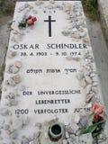 Gravestone of Oskar Schindler in Jerusalem Stock Image