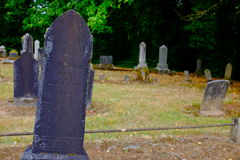 Gravestone at Pioneer Cemetery in Dayton Oregon Royalty Free Stock Photos